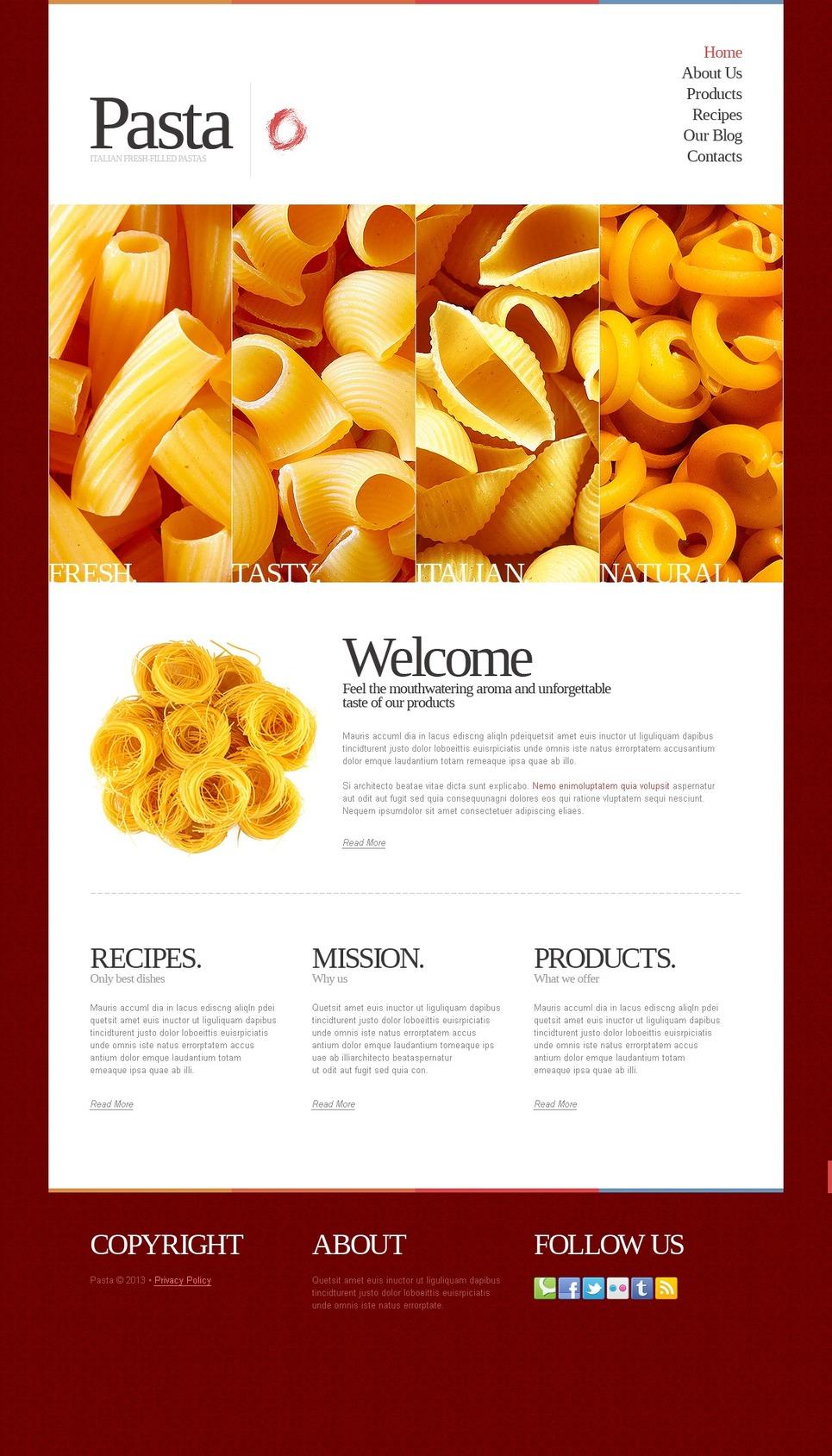 Spectacular Italian Restaurant Joomla Template