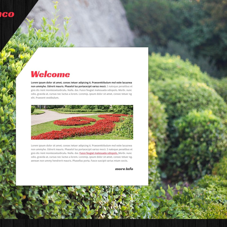 Landscape Design Website Template #42629