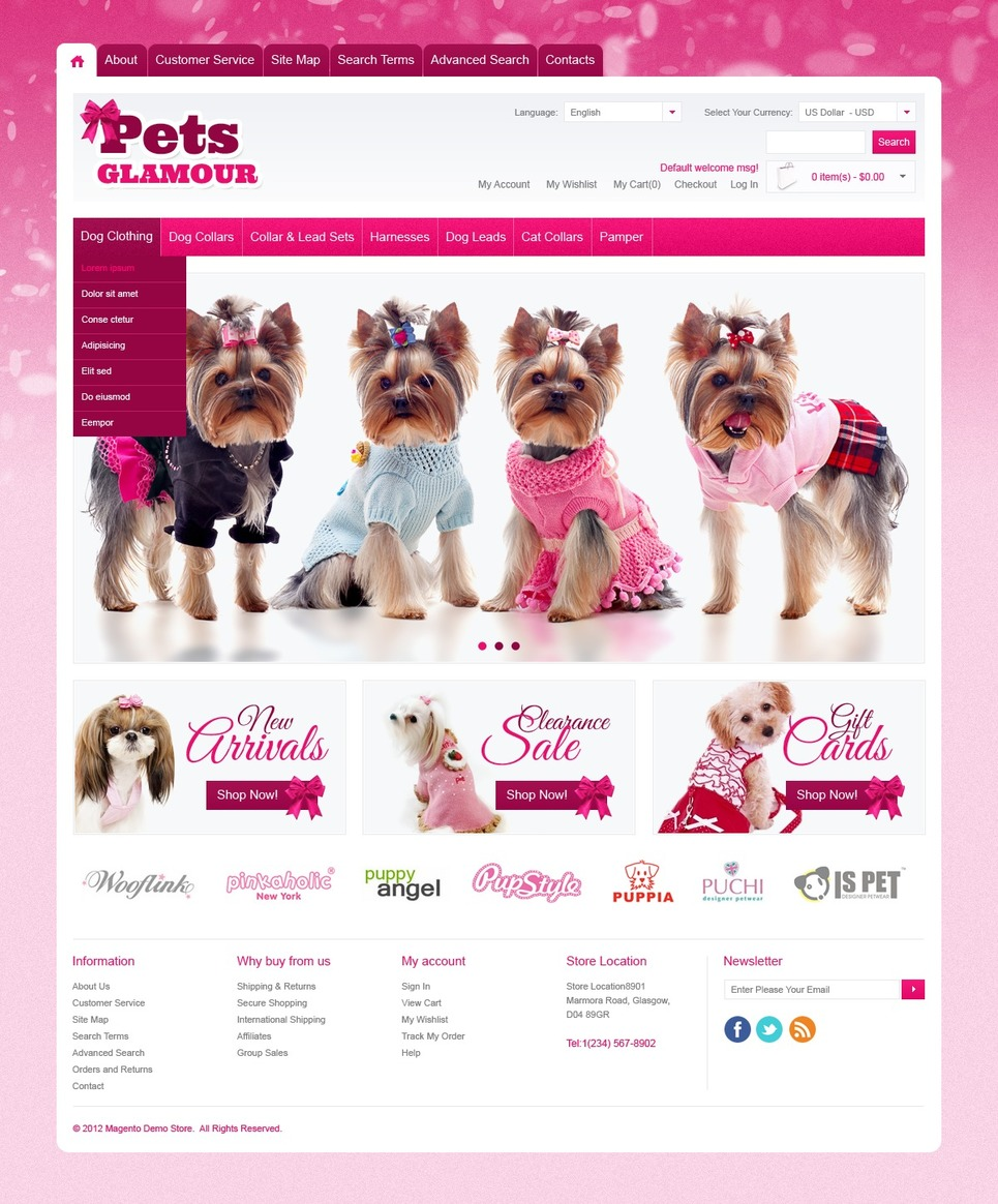 Outstanding Pet Shop Magento Theme