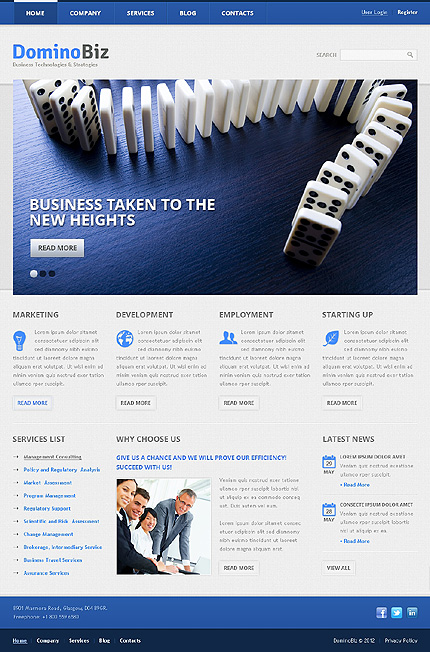 Domino Biz - Responsive Corporate Business Drupal Template