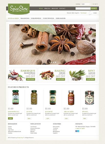 Spice store - Essential Spice Store PrestaShop Theme