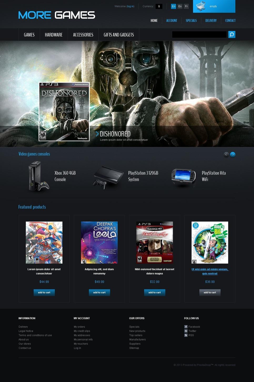 games  u0026 consoles prestashop theme  42665