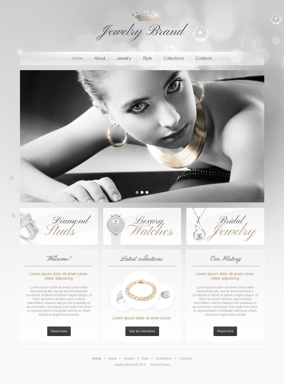 Clean Website Template to Showcase Jewelry Brands - image