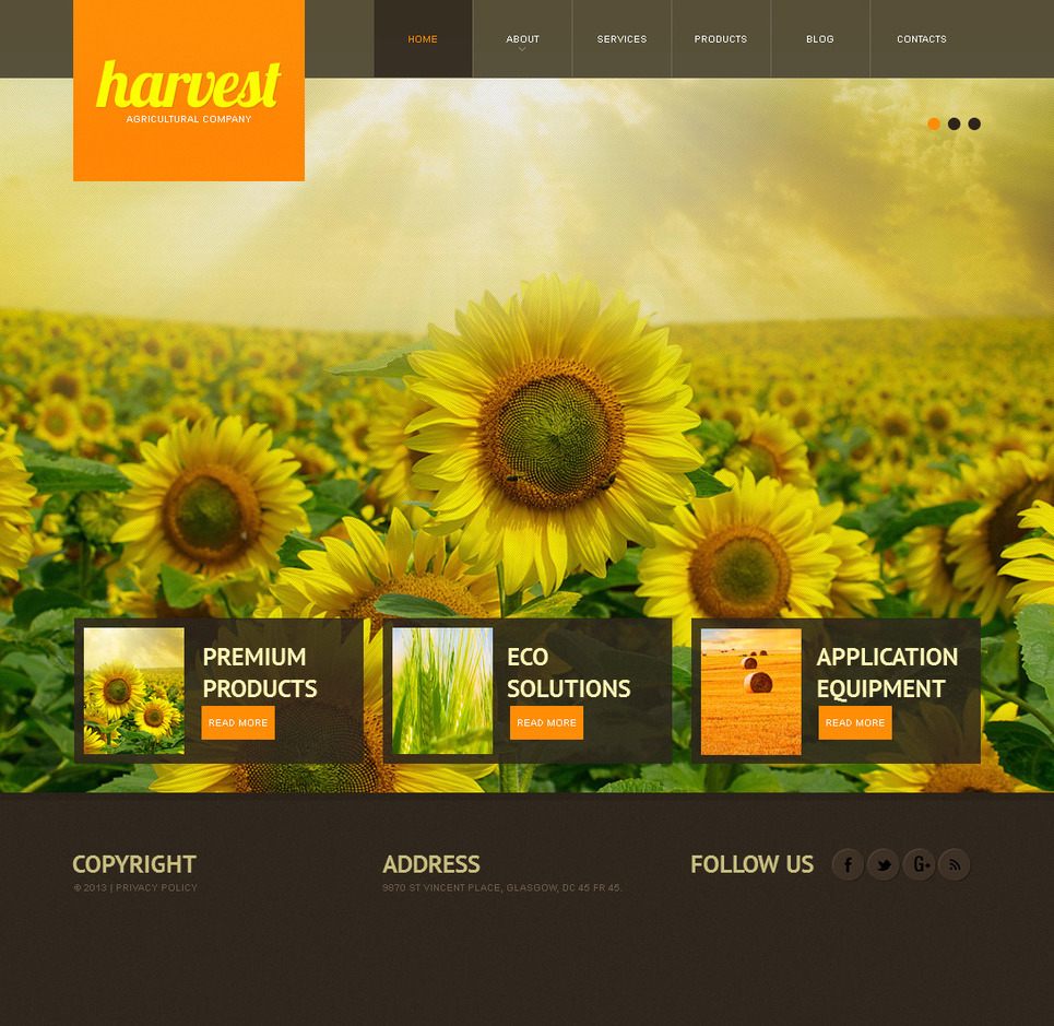 Agriculture Website Template with a Full-Screen Background Slideshow - image