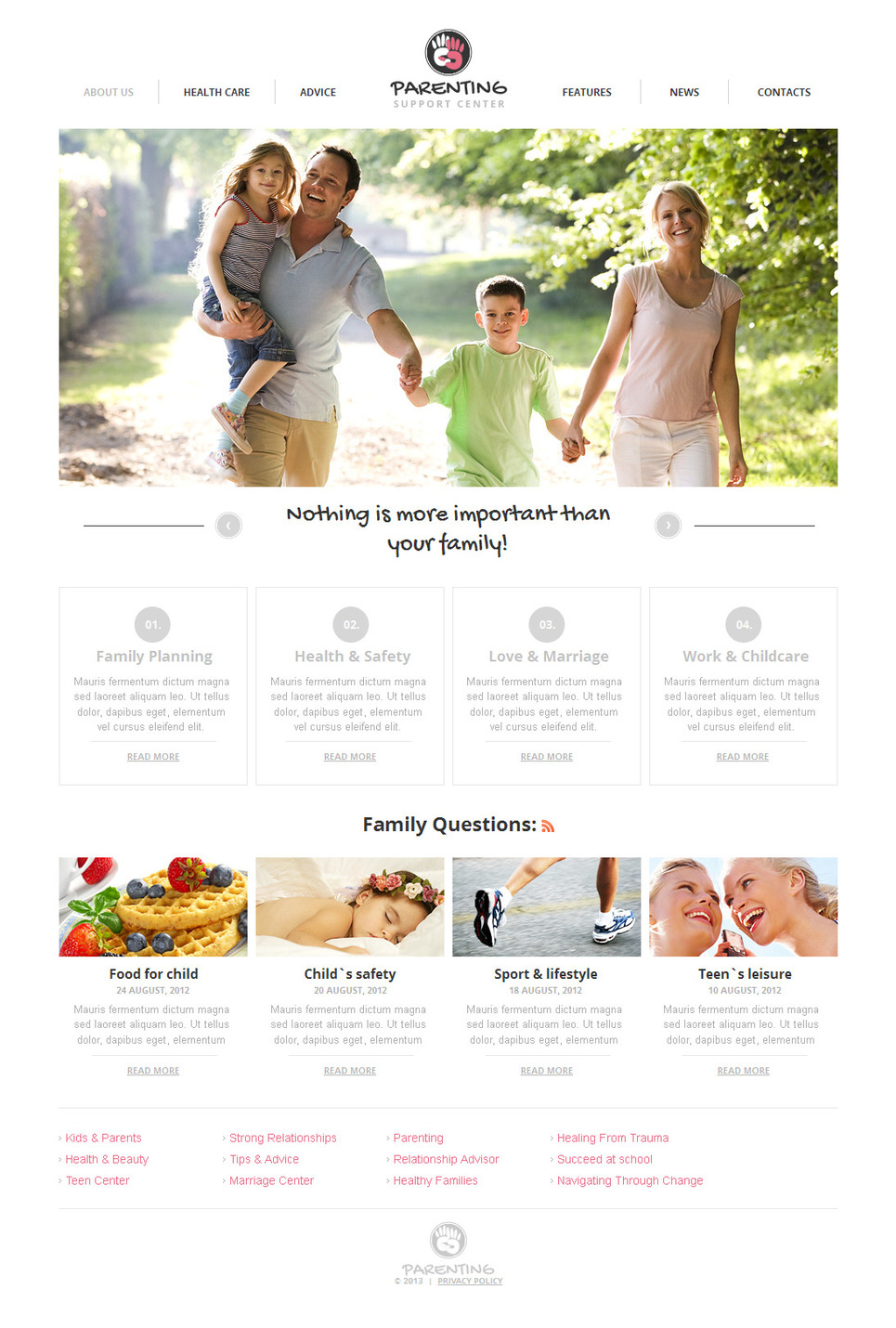 Family Website Template Designed in Light Colors - image