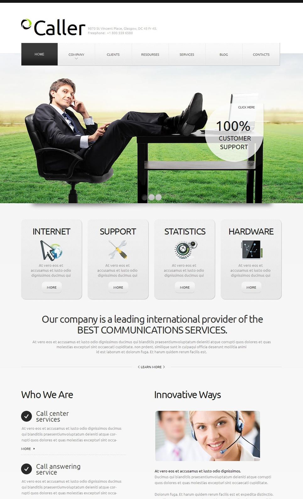 MotoCMS HTML Vorlage #42700 aus der Kategorie Kommunikation - image