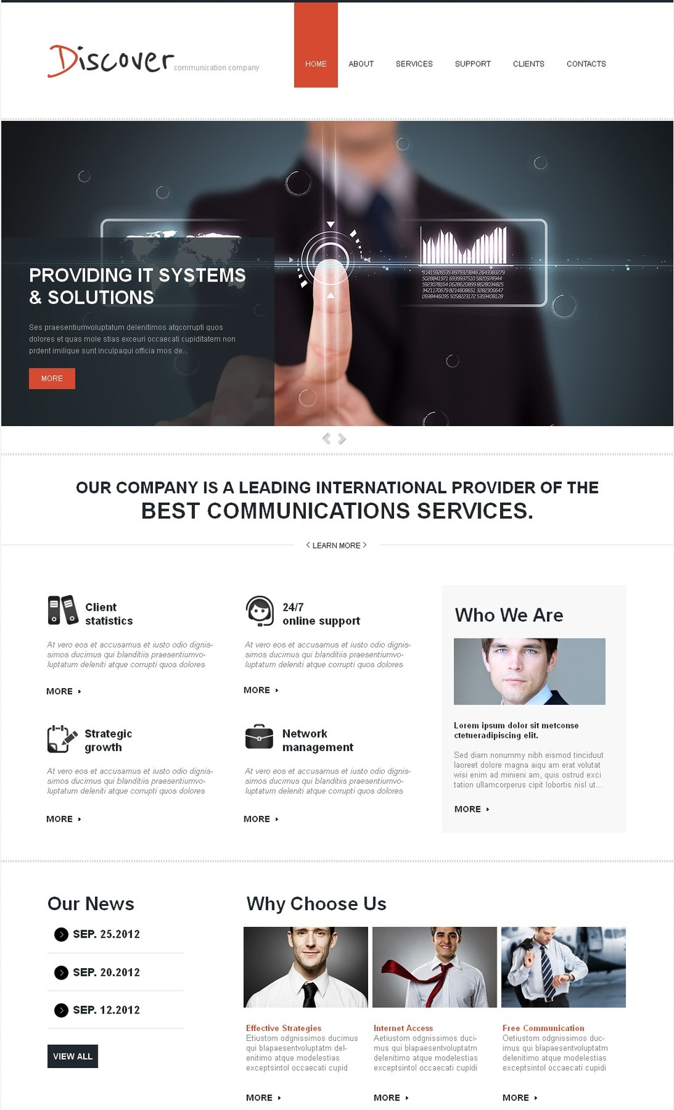 IT Systems and Solutions Website Template - image