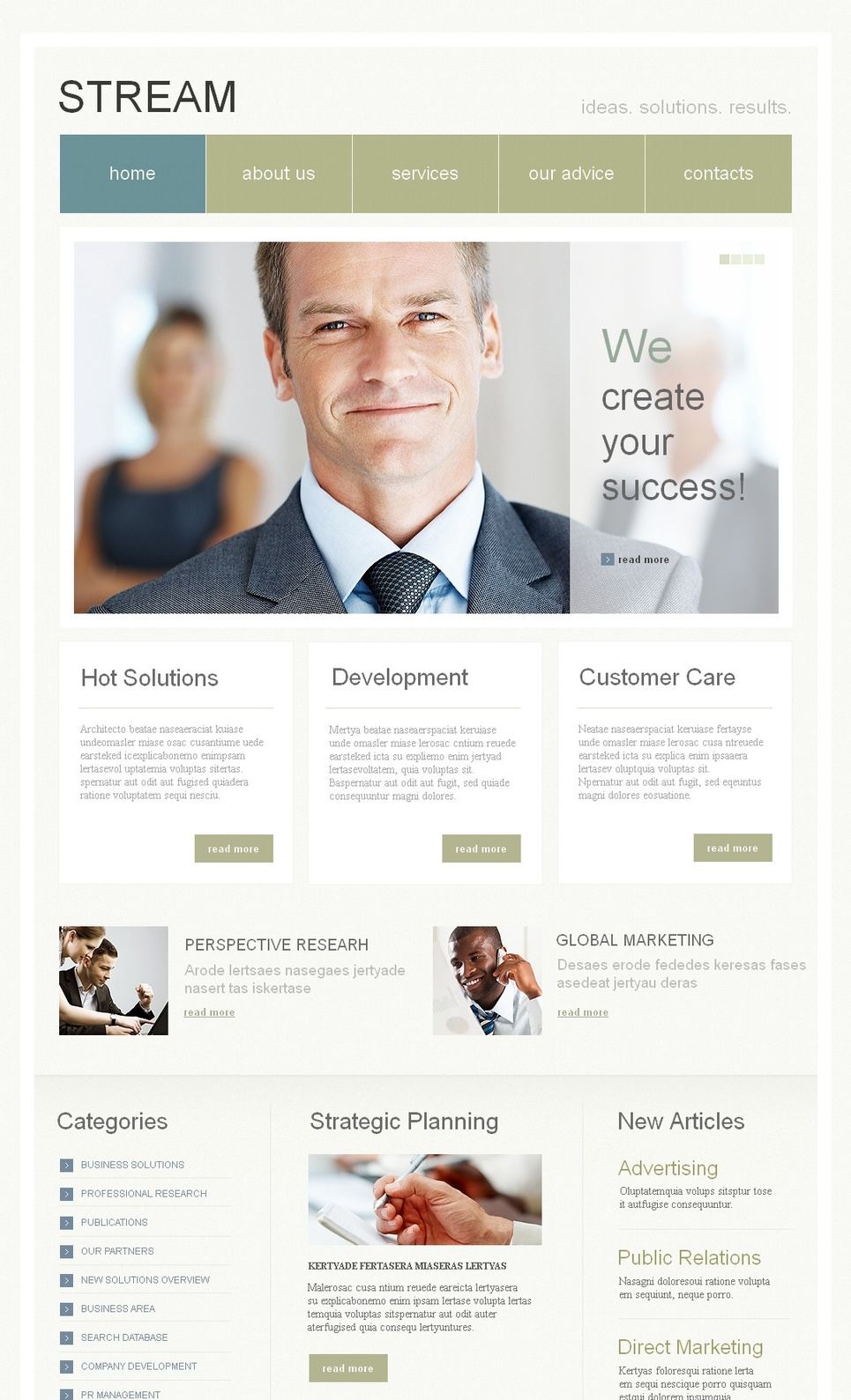 Business Web Template with Large Menu Toolbar - image