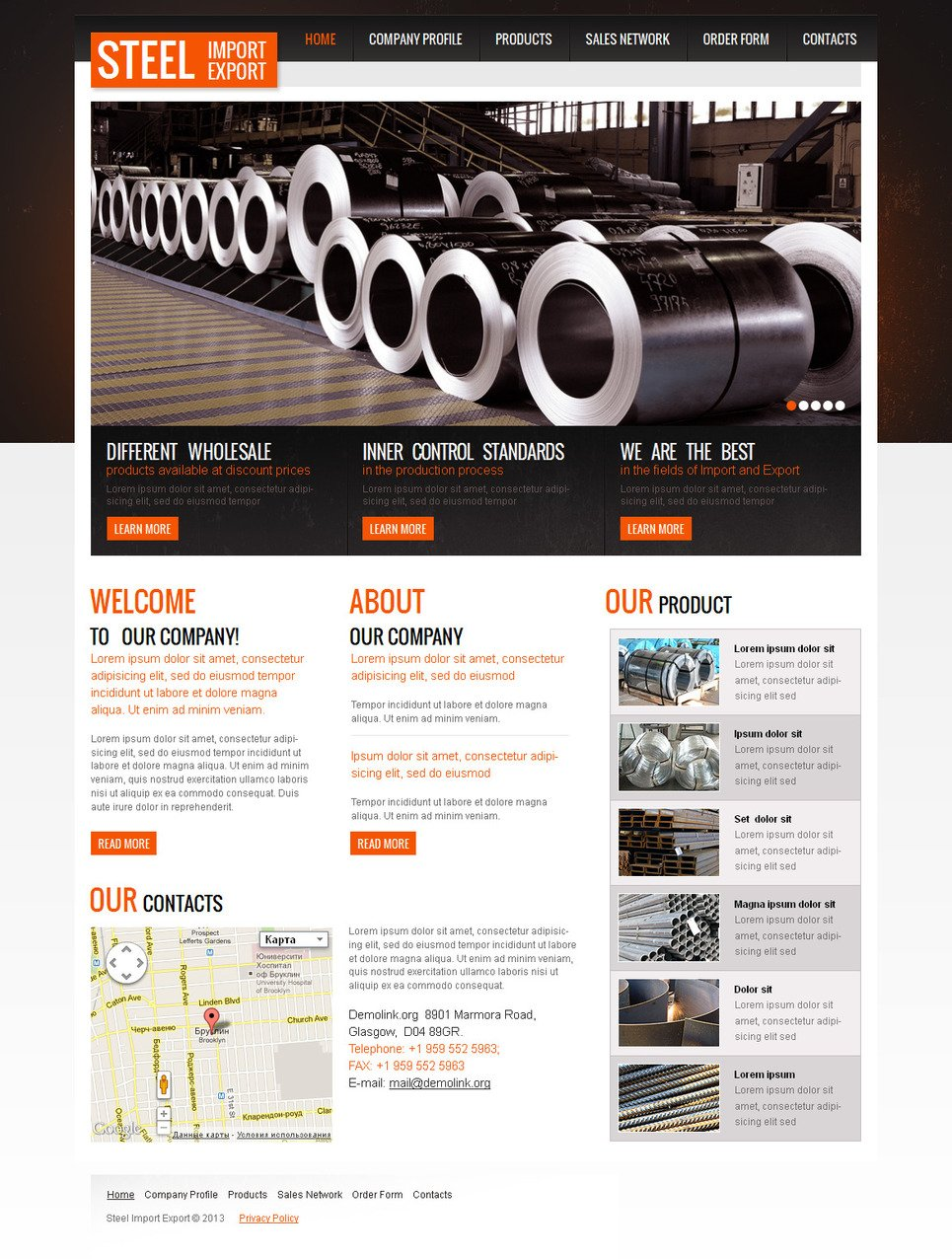 Industrial Website Template with jQuery Image Slider - image