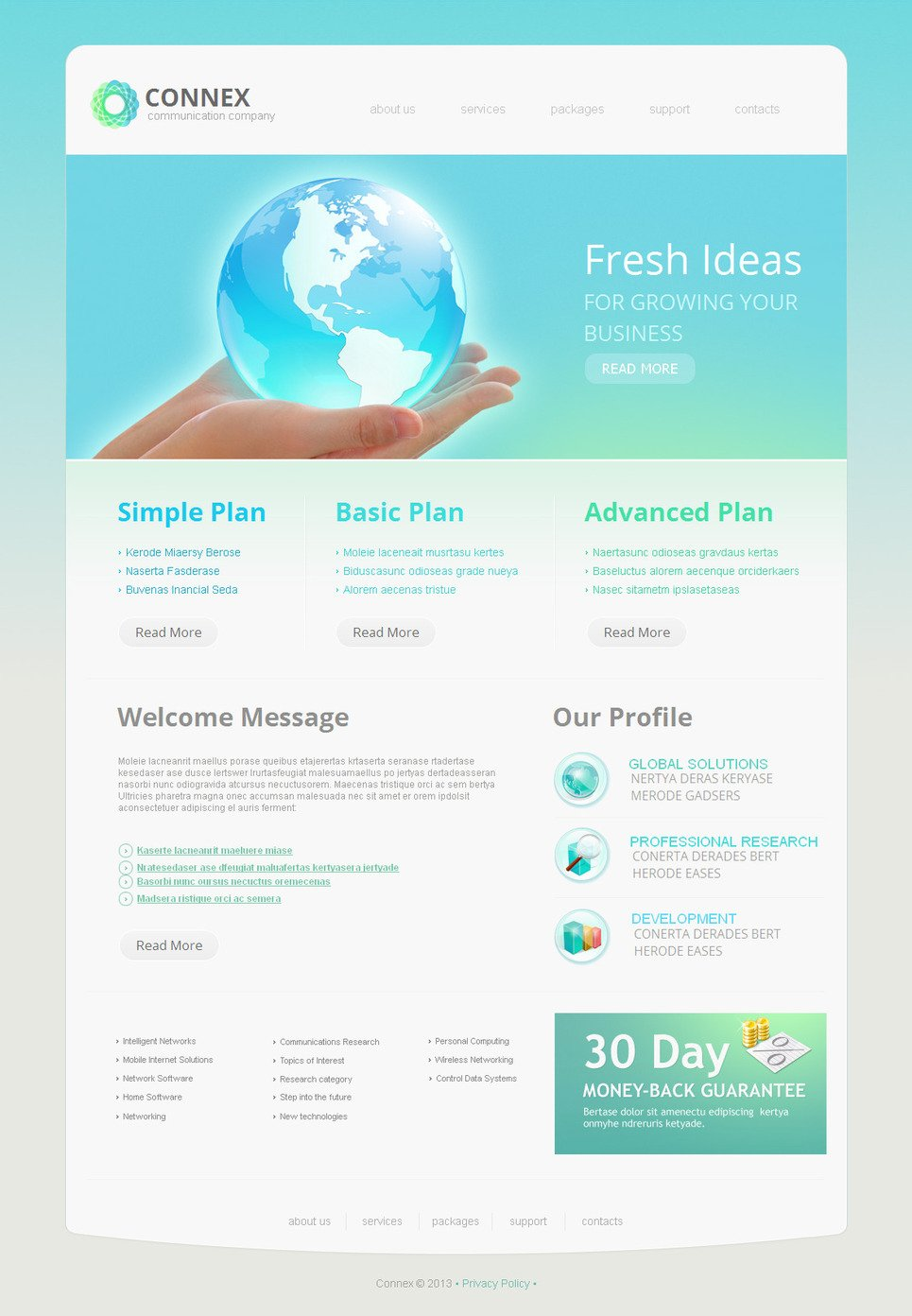 Light Blue Website Template for Business Purposes - image