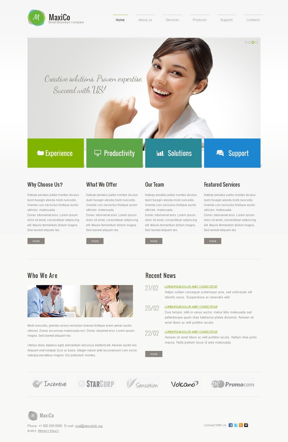 Small Business Company Website Template - image
