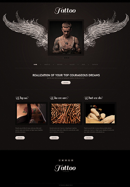 Tattoo - Best Responsive Template For Beauty And Fashion