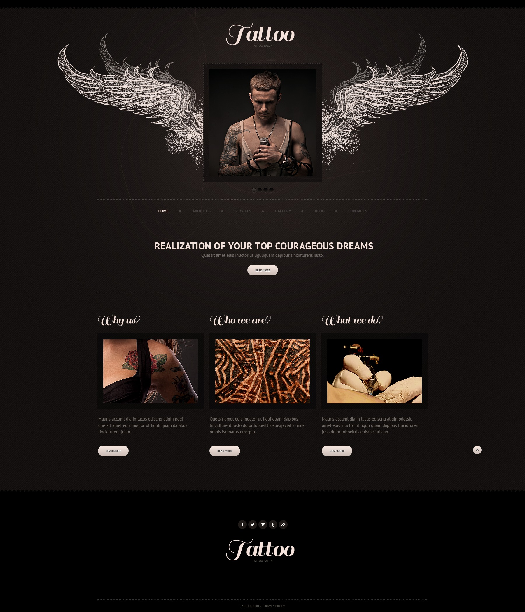 black tattoo salon joomla template 42794. Black Bedroom Furniture Sets. Home Design Ideas