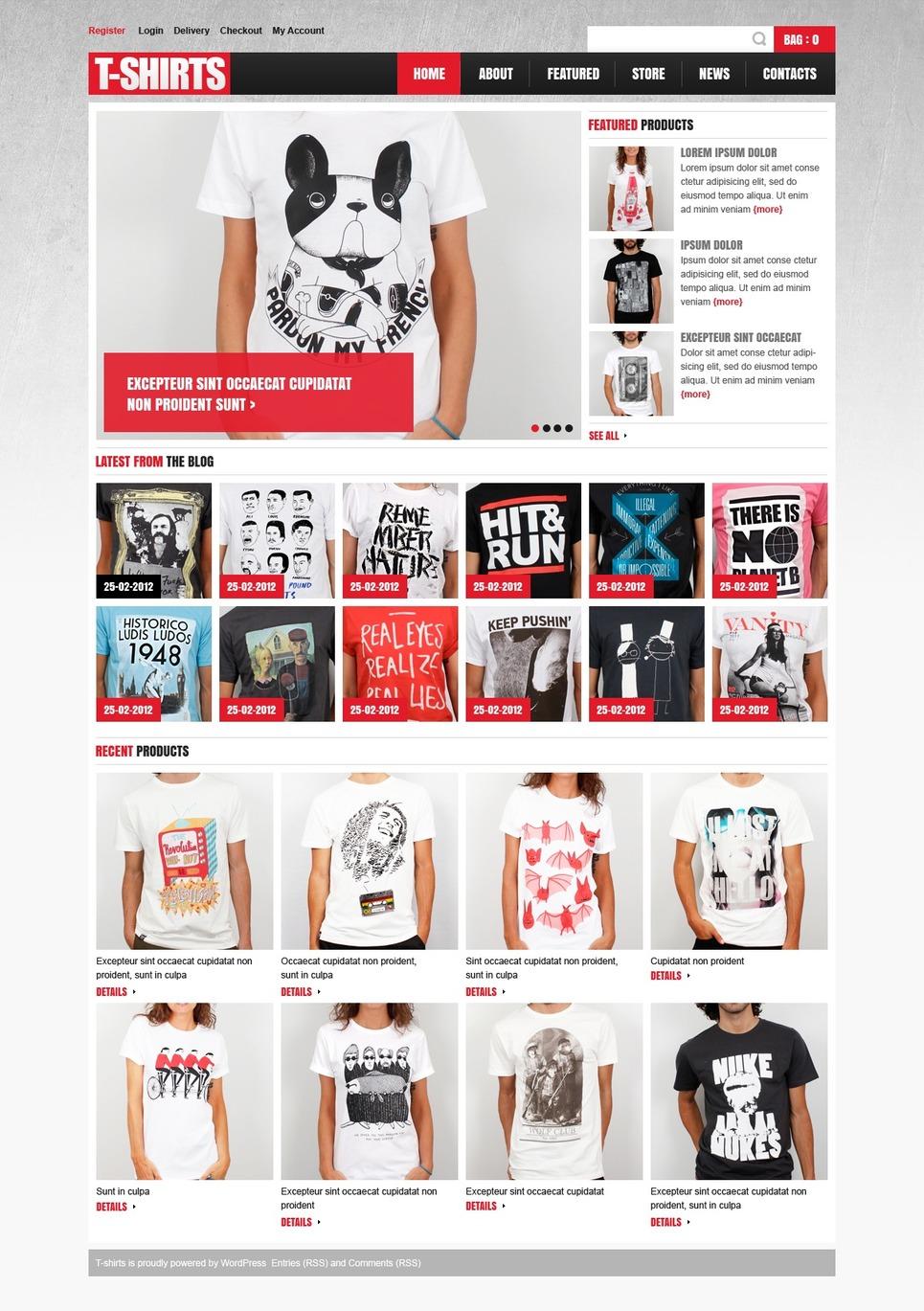 T-shirts - Wild Responsive T-Shirts Jigoshop Theme