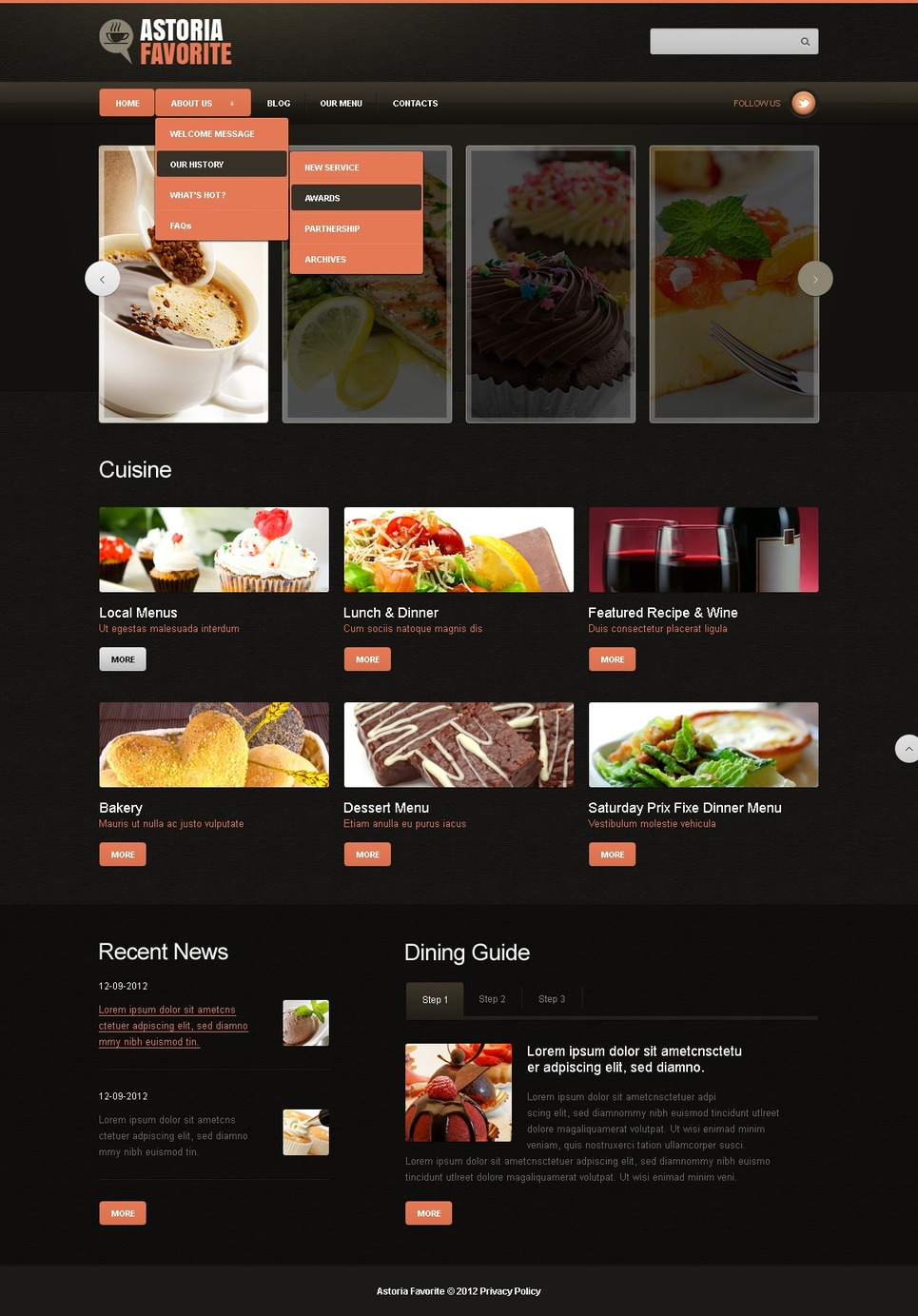 Vibrant Black  Cafe and Restaurant Joomla Template