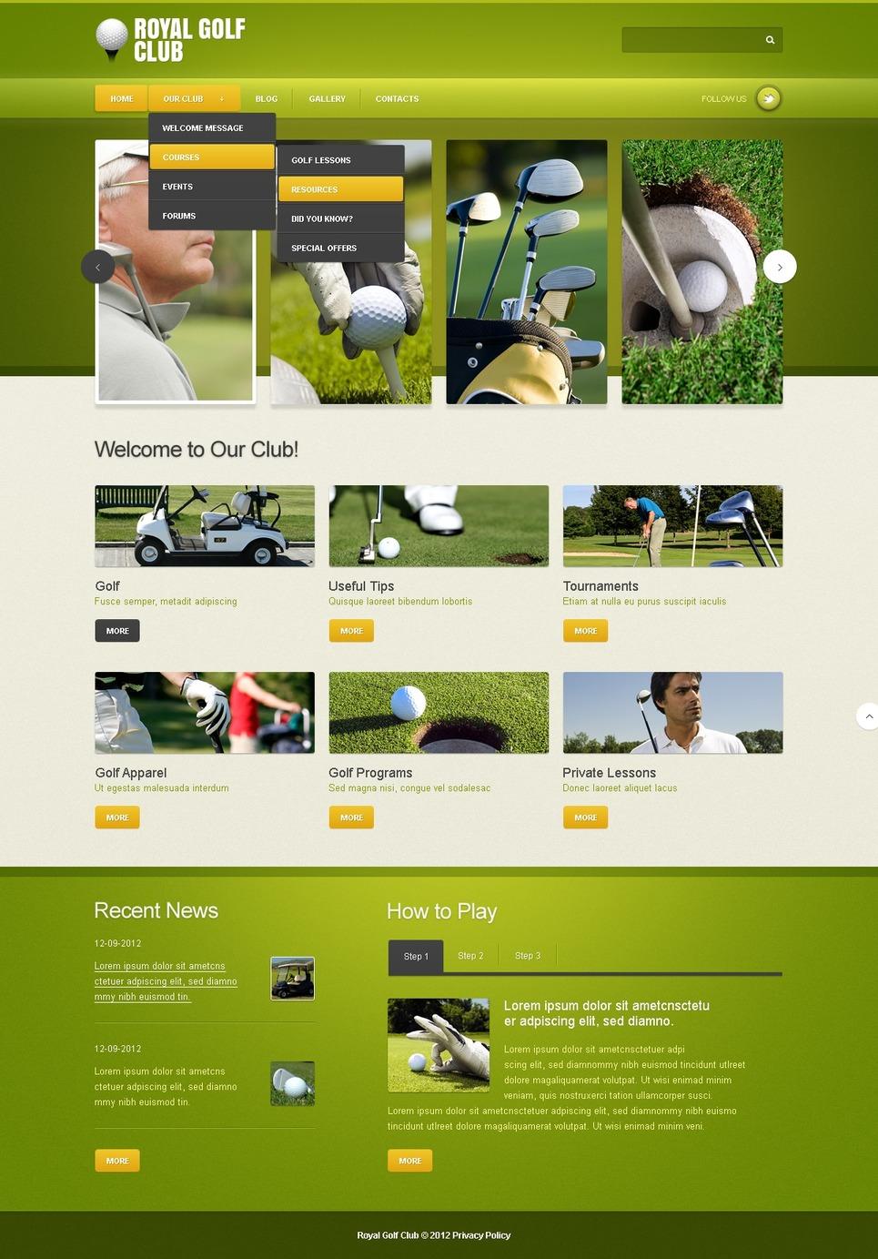 golf joomla template web design templates website templates download golf joomla template 42830. Black Bedroom Furniture Sets. Home Design Ideas