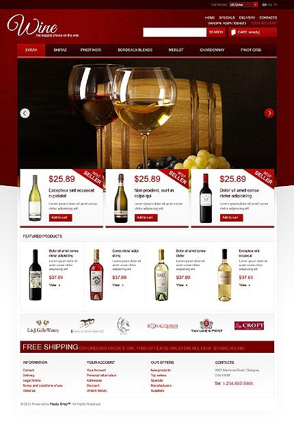 Winestore - Best WineShop PrestaShop Theme