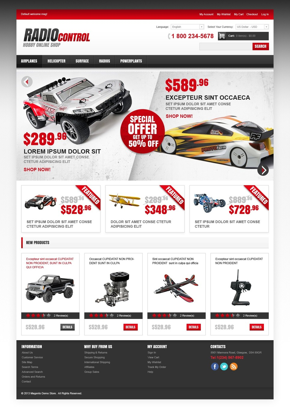 Excellent Radio-Controlled Mechanisms Magento Theme