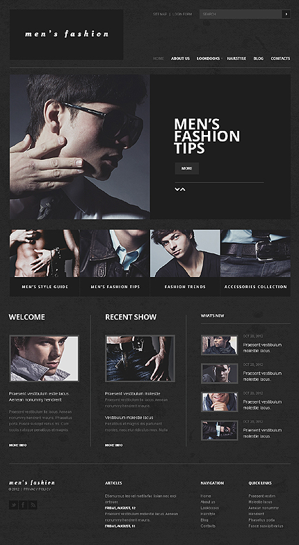 Mens Fashion tips - Best Joomla Responsive Template For Beauty And Fashion