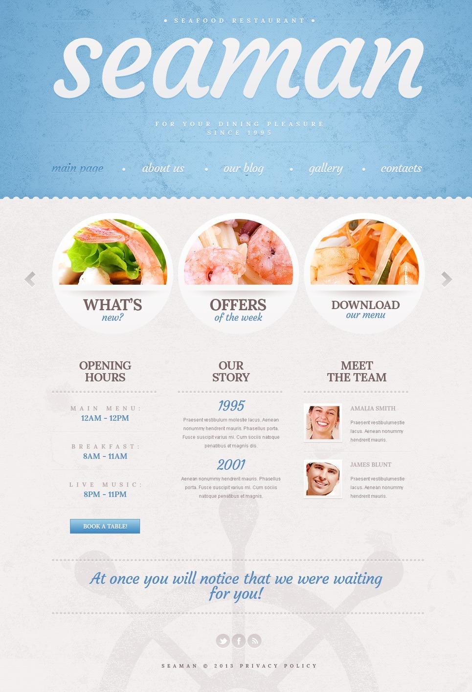 Cyan Seafood Restaurant WordPress Theme New Screenshots BIG
