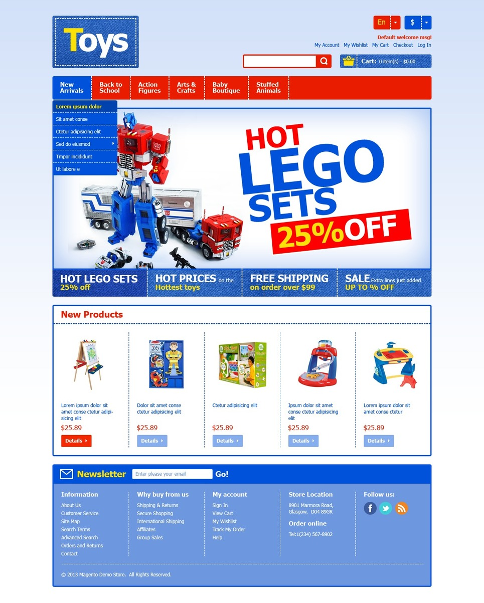 Eminent Toys for Happy Kids Magento Theme