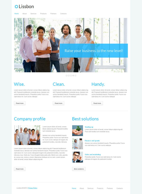 Marketing Agency Website Template Designed in Minimalist Style - image