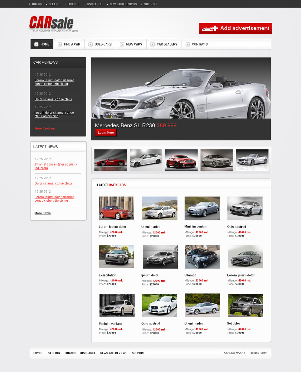Cars Show Website Template with Image Slider - image