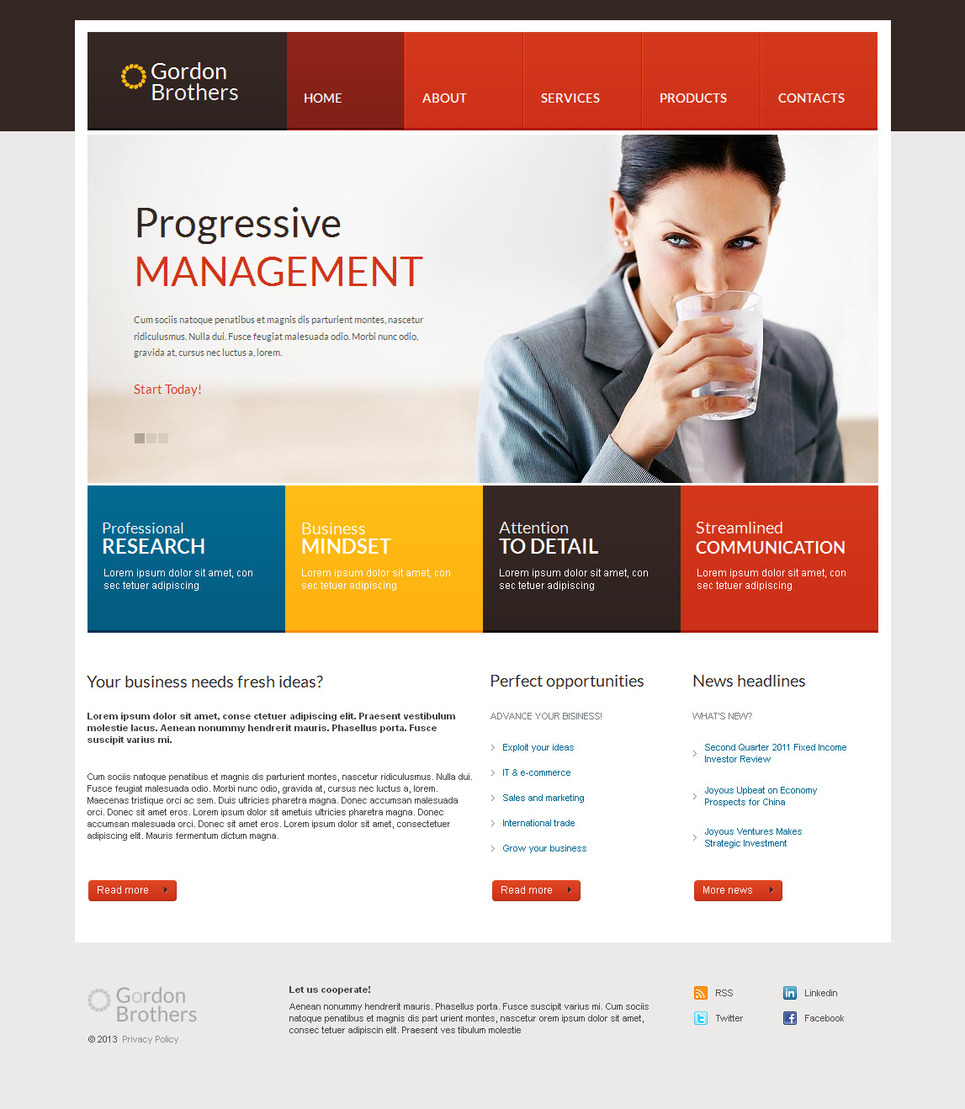 Management And Consulting Website Template with an Image Slider - image