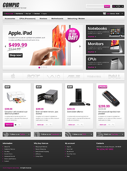 Compic - Best Computer Store Magento Theme