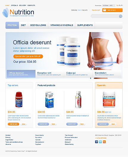 Nutrition - Ultimate Nutrition Store PrestaShop Theme