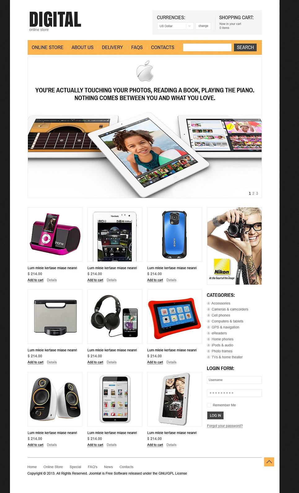 digital appliances virtuemart template web design templates website templates download. Black Bedroom Furniture Sets. Home Design Ideas