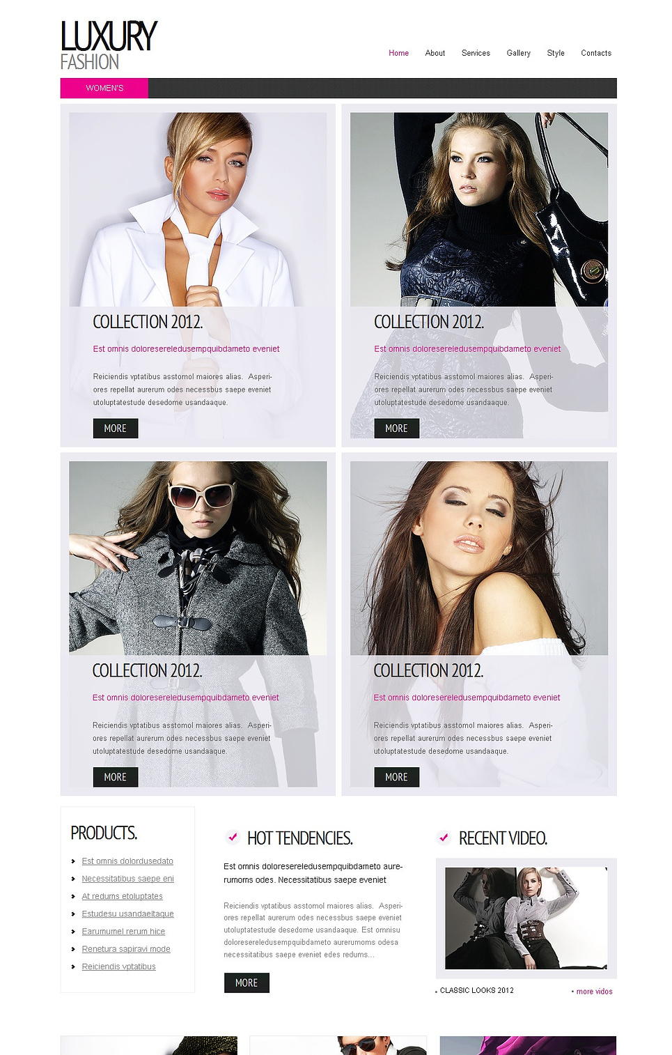 Clean Fashion Website Template with Grid Gallery - image