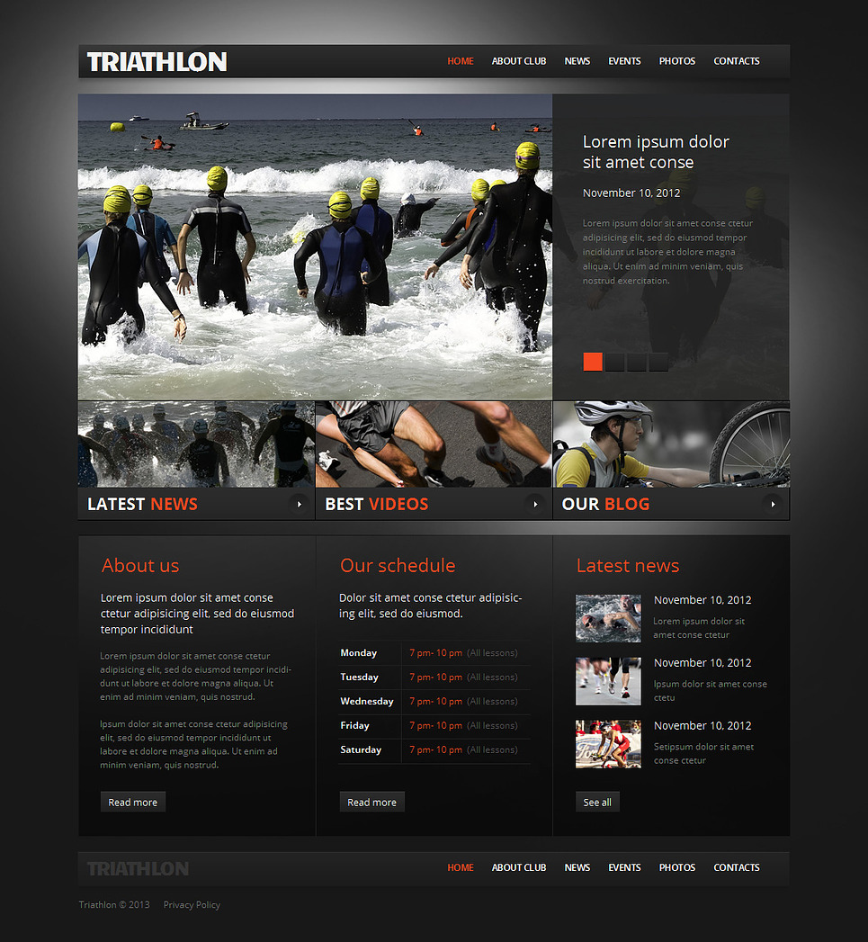 Triathlon Website Template for Sport Fans and Professional Athletes - image
