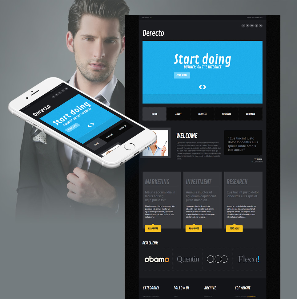 Black Website Template for Business Consulting - image