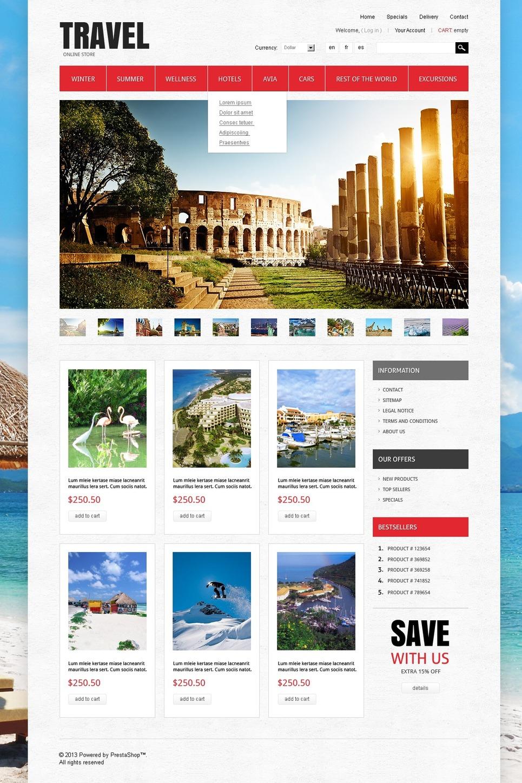 Stunning Travel Store PrestaShop Theme