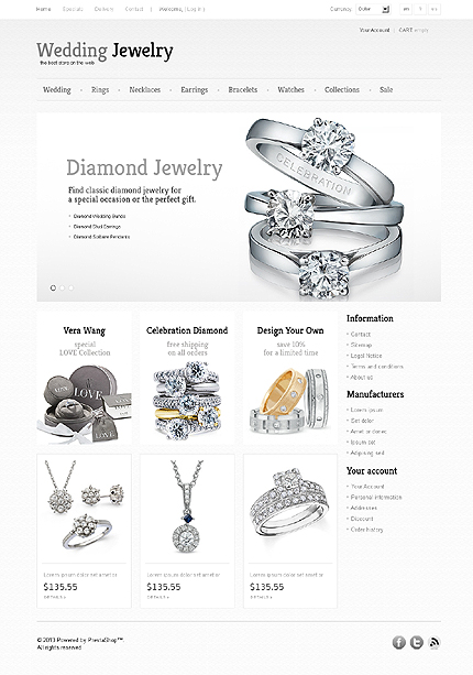 Wedding jewelry - Fantastic Jewellery Store PrestaShop Theme