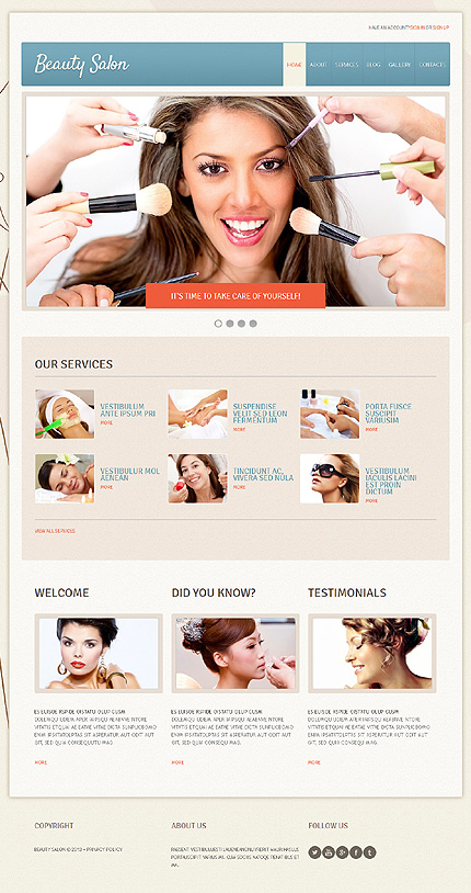 Beauty Salon - Best Responsive Joomla Template For Beauty And Fashion