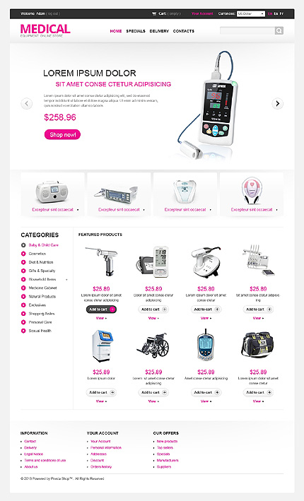 Medical equipment store online - Best Responsive Medical and Pharmacy Store PrestaShop Theme