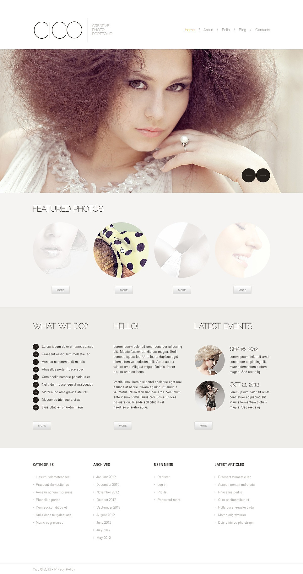 White Photographer Portfolio Joomla Template New Screenshots BIG