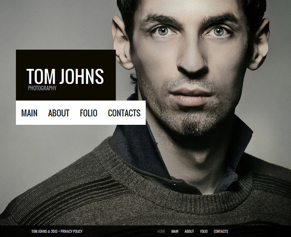 Personal Portfolio Template with a Big Photo Background - image