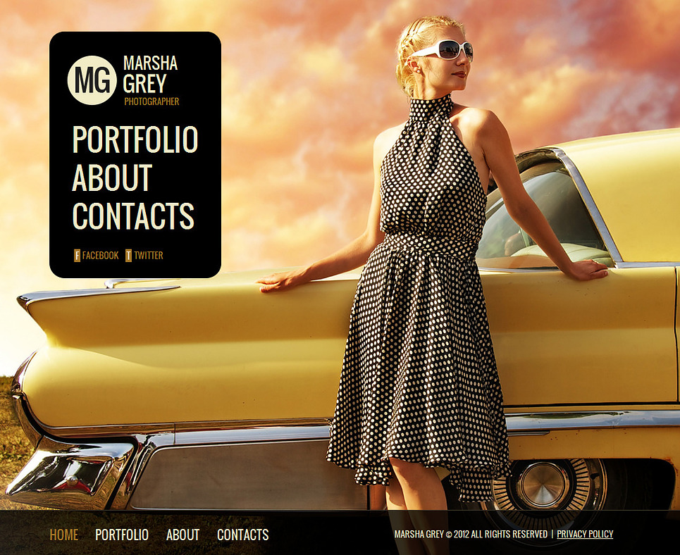 Photography Template with Full-Screen Gallery and Sliding Thumbnails - image