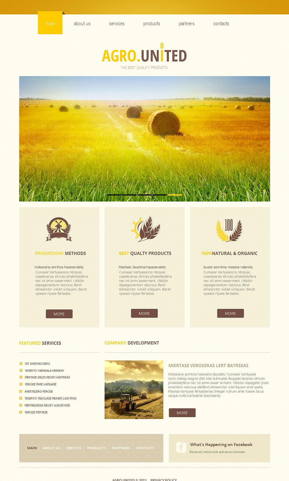 Agriculture Template with Bright Yellow Background - image