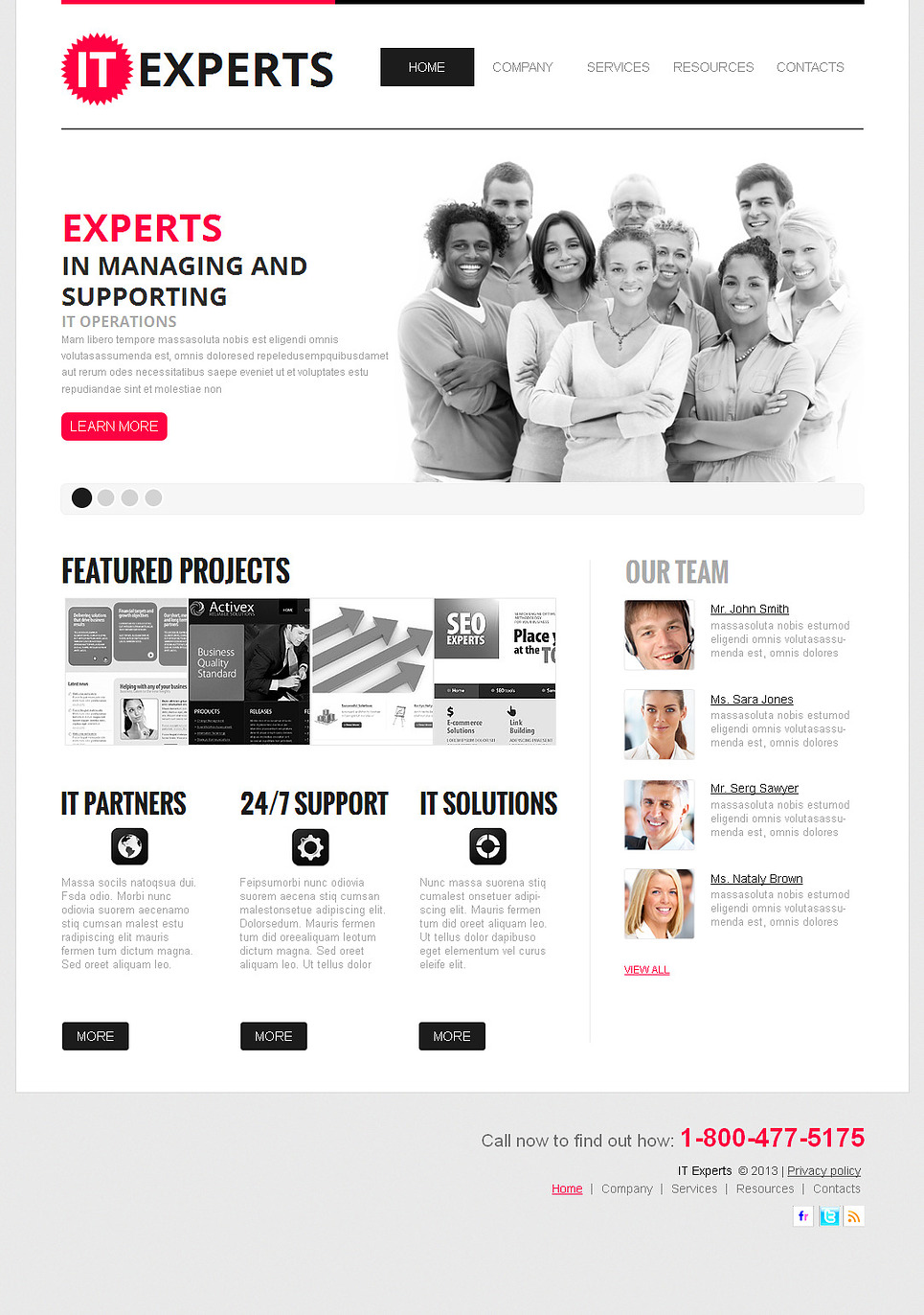 IT Business Template Created in Clean Style - image