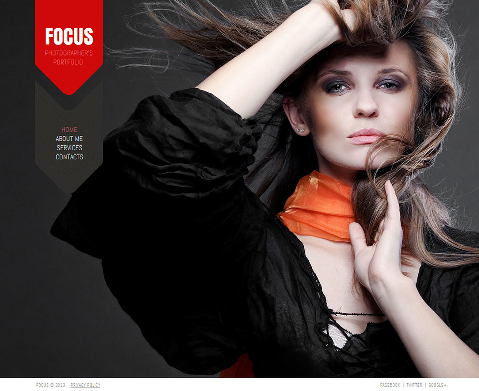Photographer Web Template with Background Photo Gallery - image