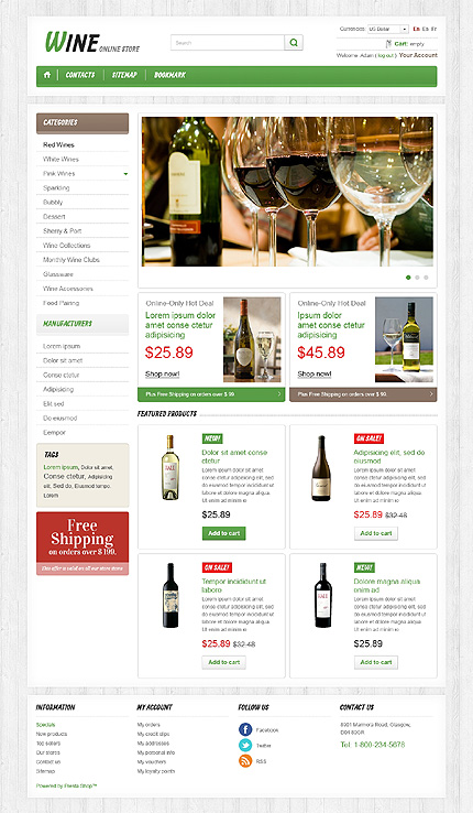 Wine online store - Ultimate Wine Shop PrestaShop Theme