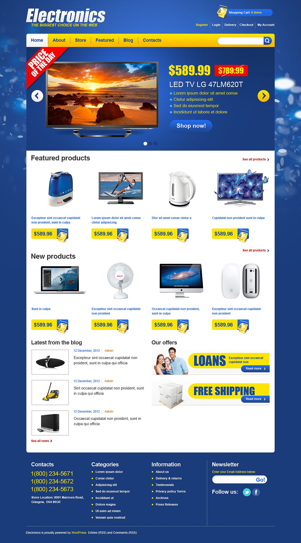 Electronics - Best Home Electronics Jigoshop Theme
