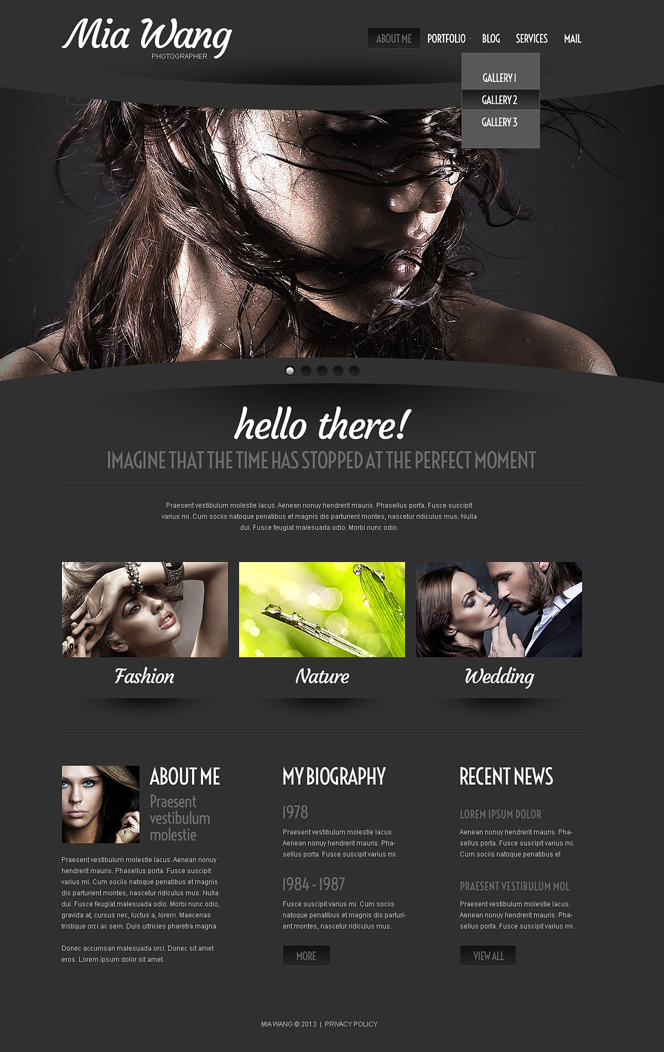 Cherry Photographer Portfolio WordPress Theme New Screenshots BIG