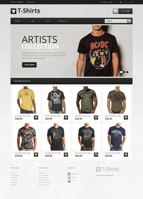 Artistic T Shirts Prestashop Theme 43226