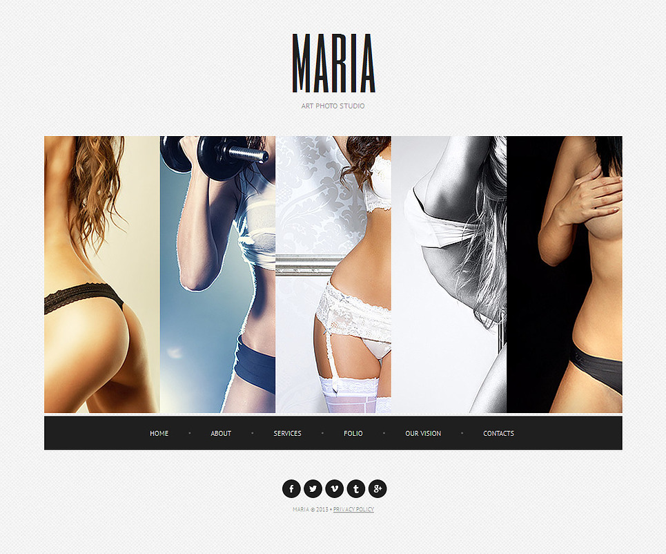 Photography Web Template Created in Pastel Tones - image