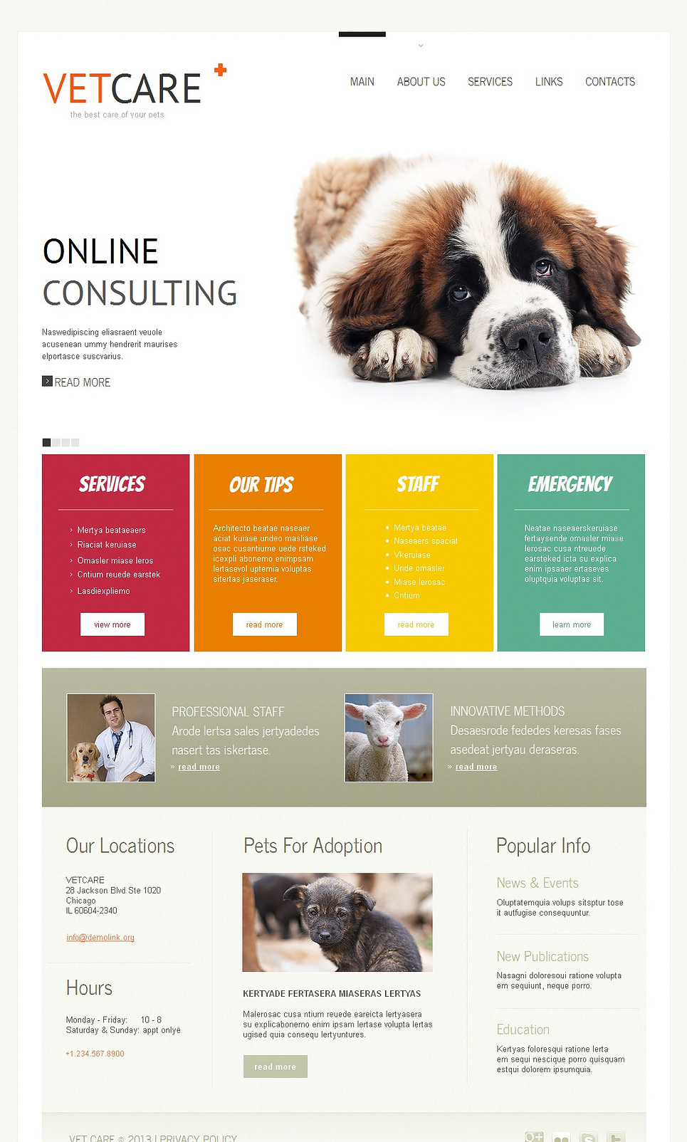Veterinary Website Template Designed in Modern Style - image